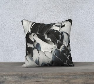 Black & White Pillow Cover aperçu