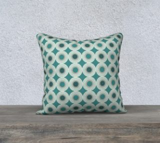 """18"""" x 18"""" Pillow Case - Mesmerized in Teal preview"""