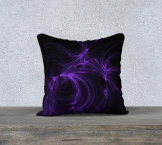 Purple Fractal on Black Pillow Case 18 x 18 preview