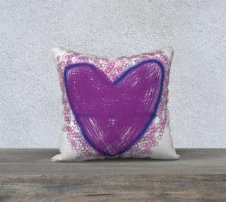 Purple heart pillow preview