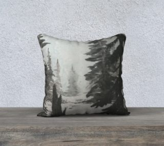 B&W Winter Forest pillow preview