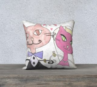 Married kitties pillow preview