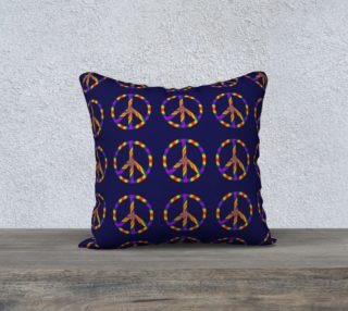 Rainbow Peace Sign 18x18 Pillow preview