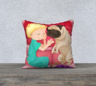 Child and Pug Puppy preview