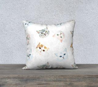 Aperçu de Cat Throw Pillow