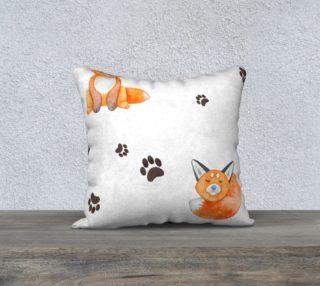 Aperçu de Watercolor Fox Throw Pillowcase