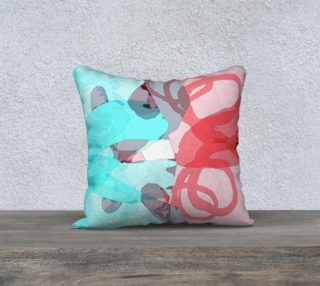 Pink & Blue Abstract Pillow by HOLLIDAY preview