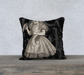 Alice In Wonderland Grunge Alice Pillow (18x18) preview