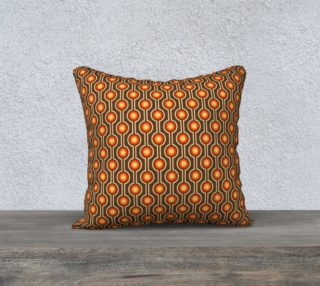 Retro orange and brown pillow cover preview