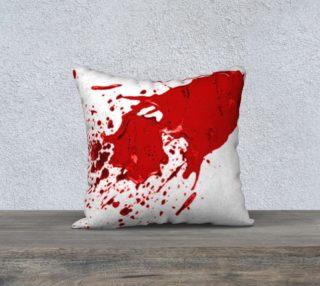 Blood Splatter First Cosplay Halloween Pillow Case 18 x 18 preview