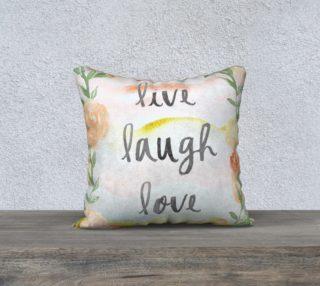 Aperçu de Live Laugh Love Warm Tone Floral Pillow