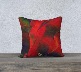 Red Flowers Pillow Cover aperçu