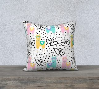 Aperçu de Llama Love Throw Pillowcase 18 x 18