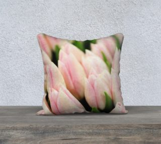 Aperçu de Blush Tulips Throw Pillowcase 18 x 18