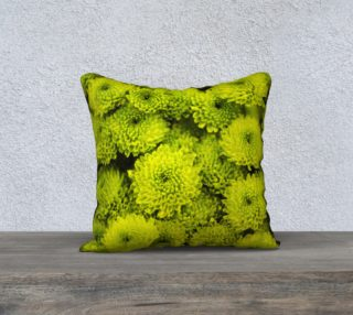 Aperçu de Yellow Mums Throw Pillowcase Cover 18 x 18