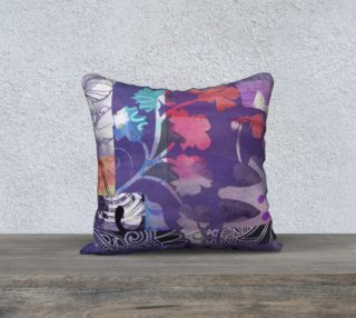 Elm Bud Throw Pillow by Deloresart preview