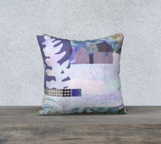 Trailing Petals Throw Pillow by Deloresart preview