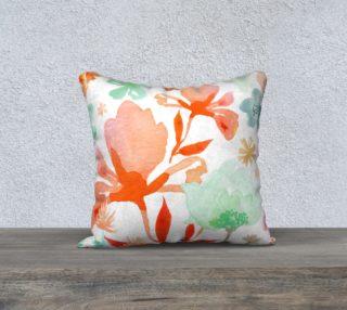 Dreamy Garden Corals Throw Pillow by Deloresart preview