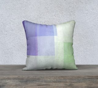 Square Off Purple and Green Throw Pillow by Deloresart preview