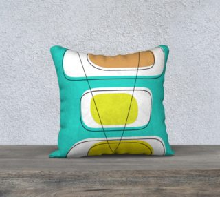 Telly Trio Brights Pillow by Deloresart preview
