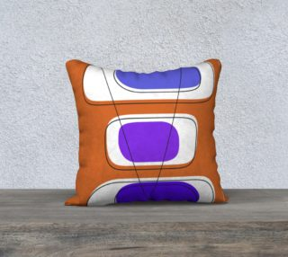 Telly Trio Blues and Brown Pillow by Deloresart preview