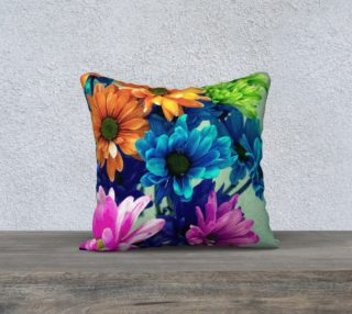 Aperçu de Coloured Daisy Flowers Pillow Cover