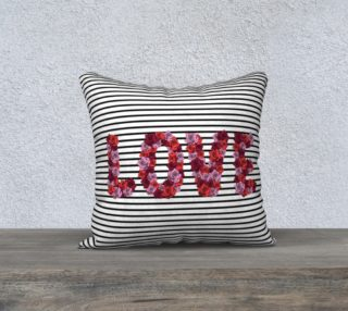 """Blooming Love Pillow Case - 18""""x18"""" preview"""