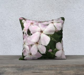 Pink and White Flower Pillow preview