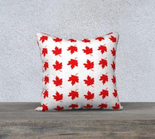 Aperçu de Red Maple Leaf Cushion
