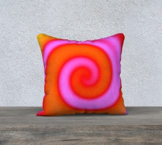 Bright Colorful Orange Pink Swirl Abstract preview