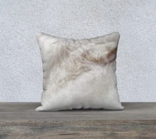 White feather and stone 18 x 18 pillow preview