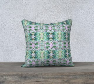 Mock Floral Ikat Ogees Purple and Green preview
