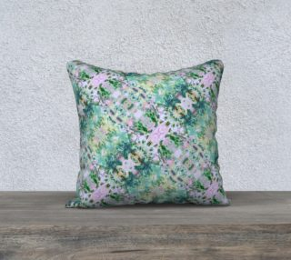 Mock Floral Ikat Ogees Purple and Green Tilted preview