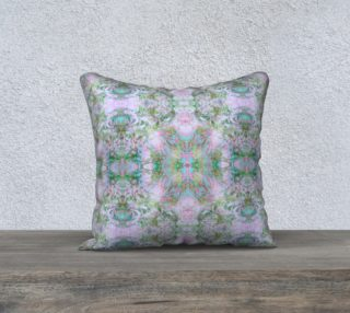 Mock Floral Ikat Pattern Teal on Purple preview