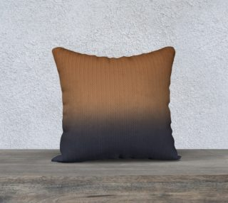 Ombre Cinnamon Brown and Slate Grey Blue Visual Herringbone Weave Pattern preview