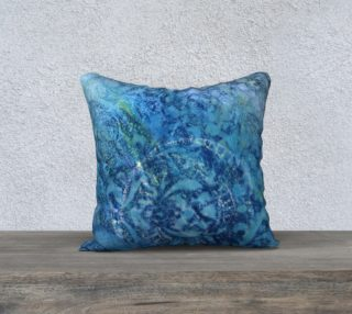 Aperçu de Gathering Blue Pillow Case 18sq