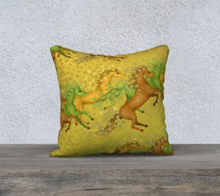 Aperçu de Leaf Horses Pillow