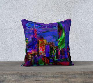 Aperçu de Abstract City Towers Throw Pillow
