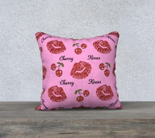 Cherry Kisses Throw Pillow preview
