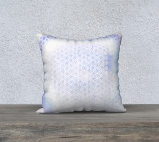 Aperçu de Lavender Flower Of Life Pillow