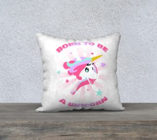 Born to be a Unicorn Pillow Case preview