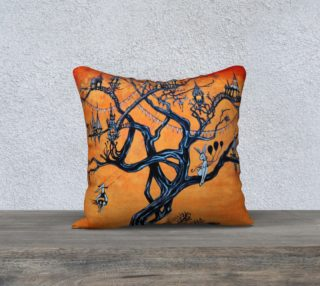 Carnival Tree pillow case 18x18 preview