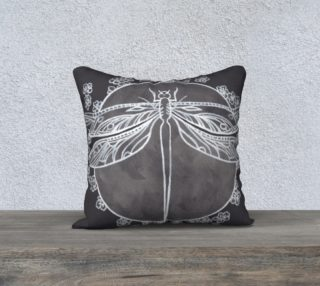 Dragonfly white pillowcase 18x18 preview