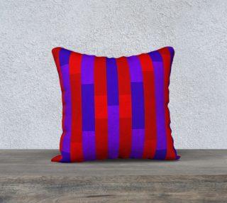 Aperçu de Puprple on Red, Red on Purple Throw Pillow