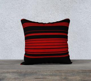 Aperçu de Three Red Stripes You're Out 18x18 Pillow Case
