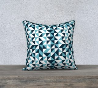 Blue Triangles 18x18 Pillow Case preview