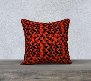 Red Triangles 18x18 Pillow Case preview