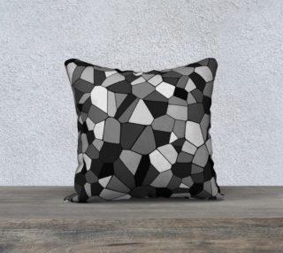 Gray Monochrome Geometric Mosaic Pattern preview