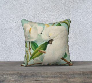 Parrot With Magnolias 18 X 18 Pillow Case preview