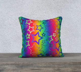 Psychedelic Rainbow Star Pattern preview